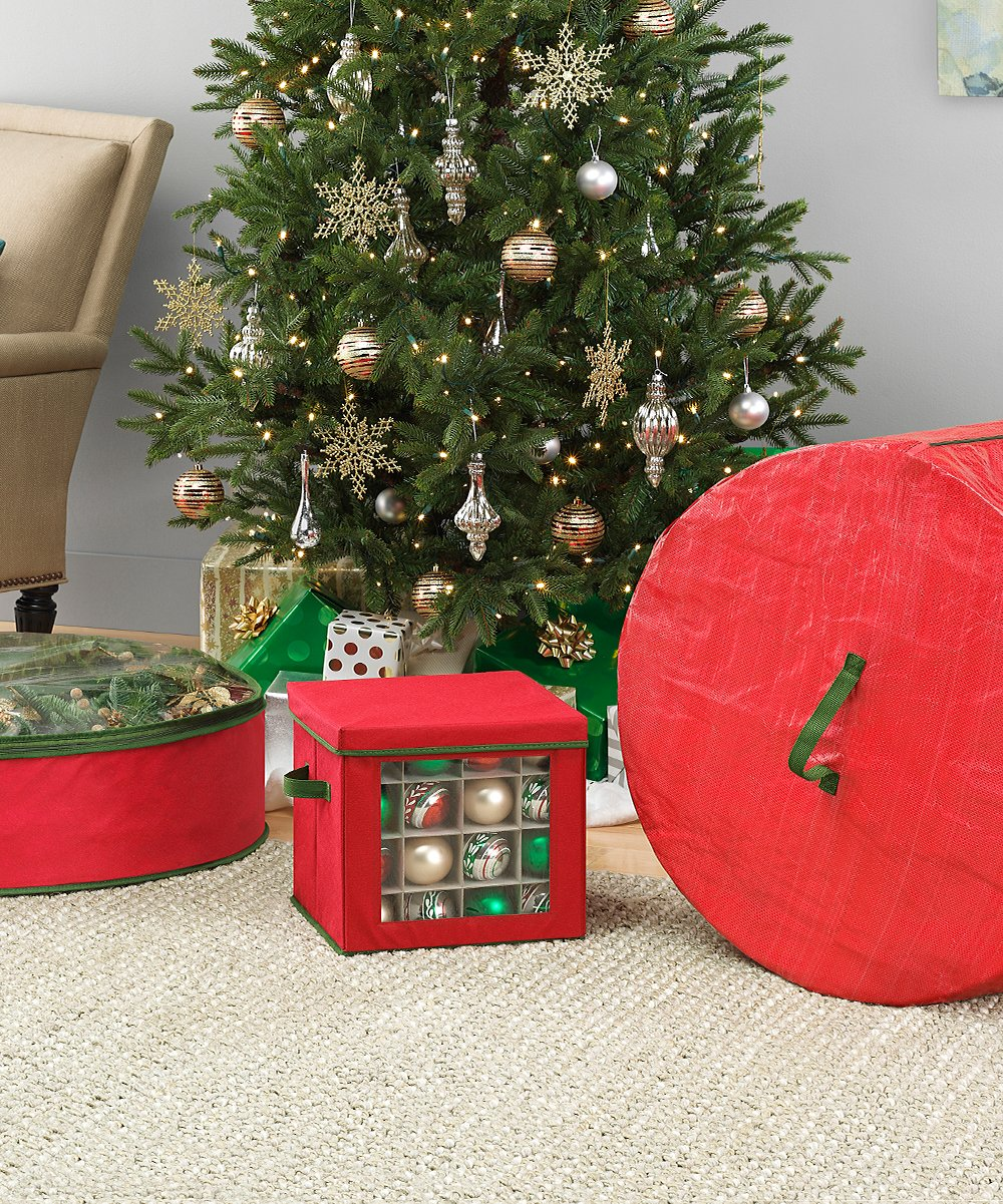 Red & Green Three-Piece Holiday Storage Set: 3 Pieces! .99 at Zulily TODAY ONLY!