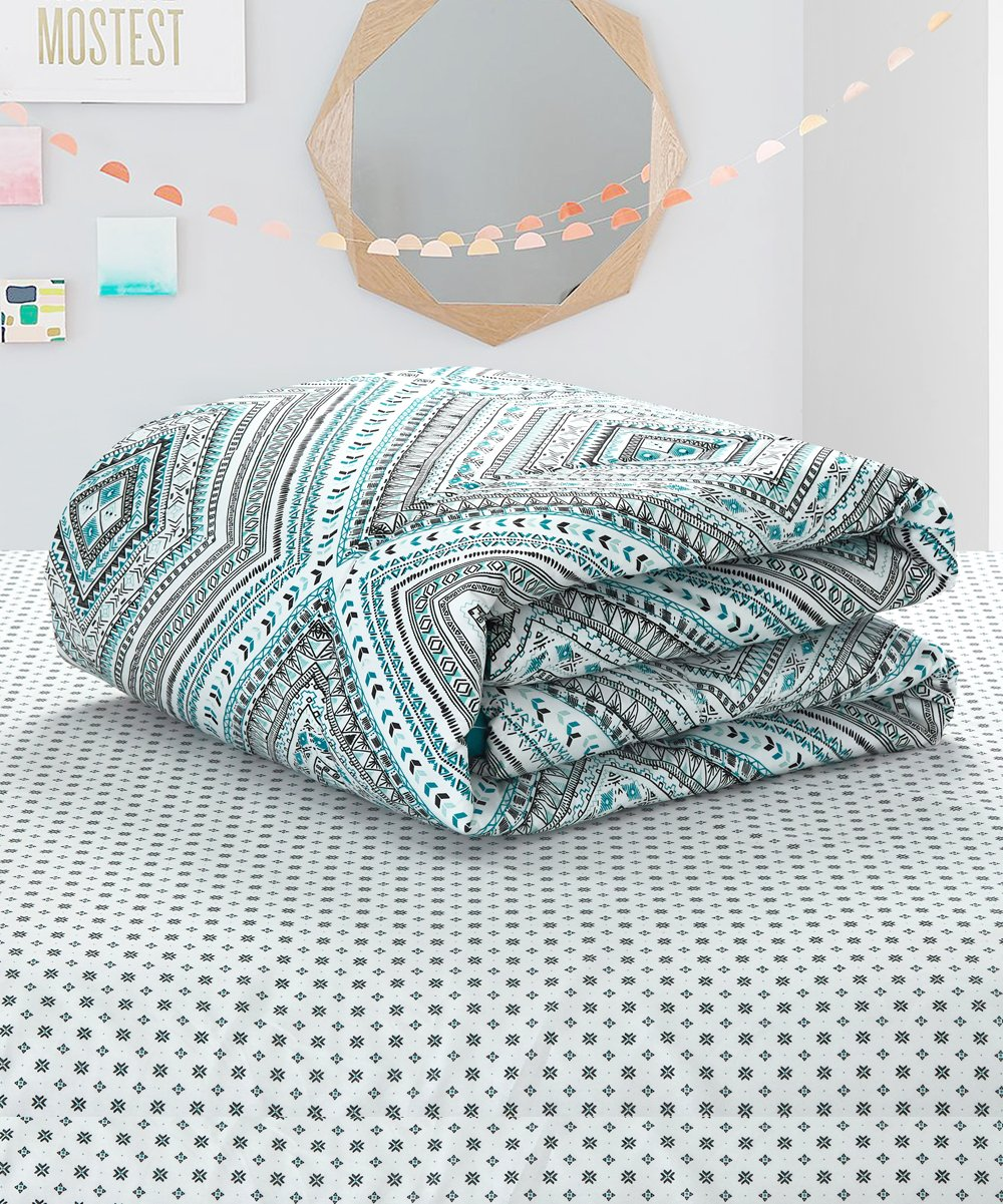 Teal Gray Gigi Seven Piece Comforter Set Best Price And Reviews Zulily