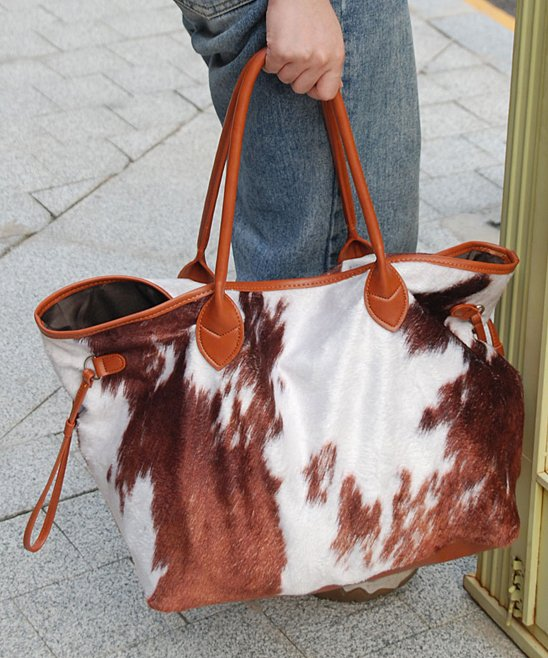 .99 Brown Cow Print Tote at Zulily!