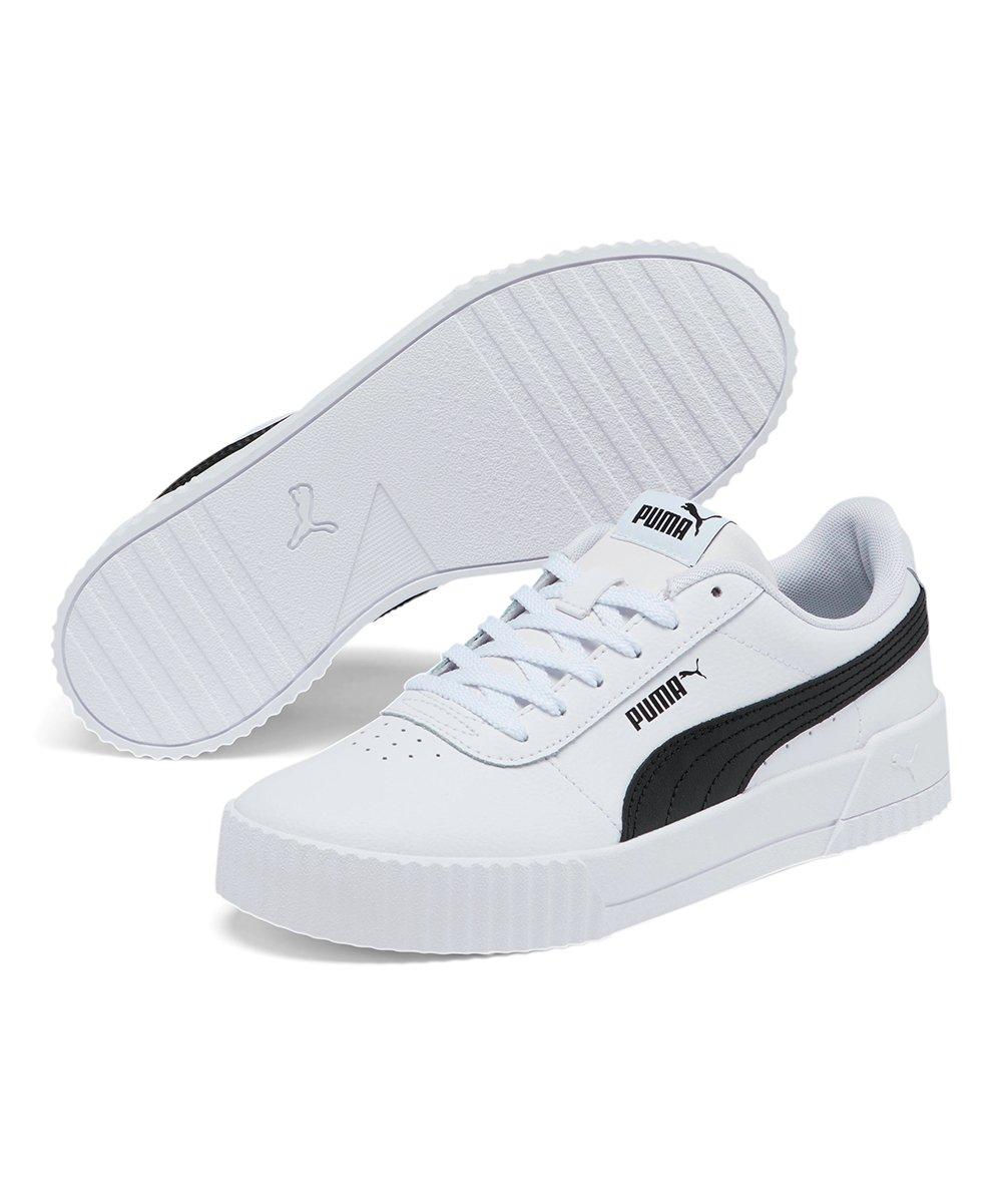 PUMA White \u0026 Black Carina Sneakers