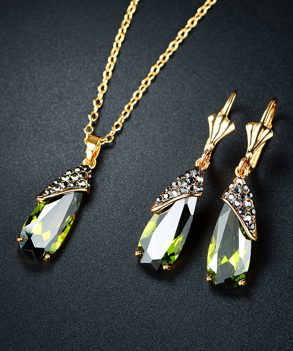 81% off a pendant necklace & earrings with Swarovski® crystals