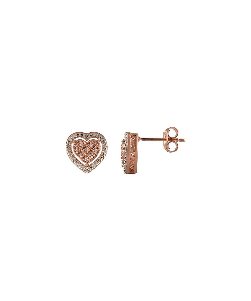Get $92 off these diamond & rose goldtone stud earrings