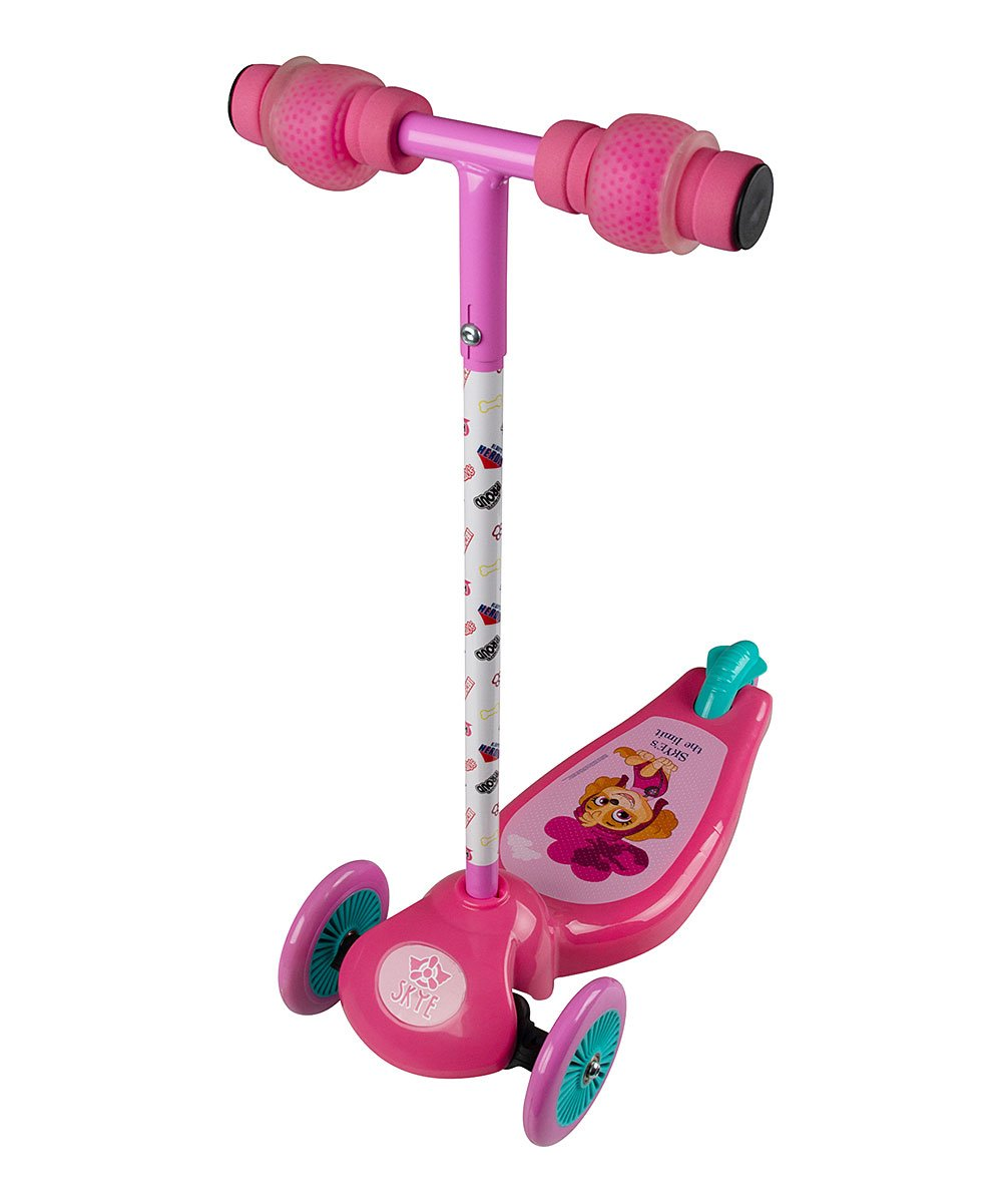 .99 Paw Patrol Pink 3-Wheel Leaning Scooter at Zulily!