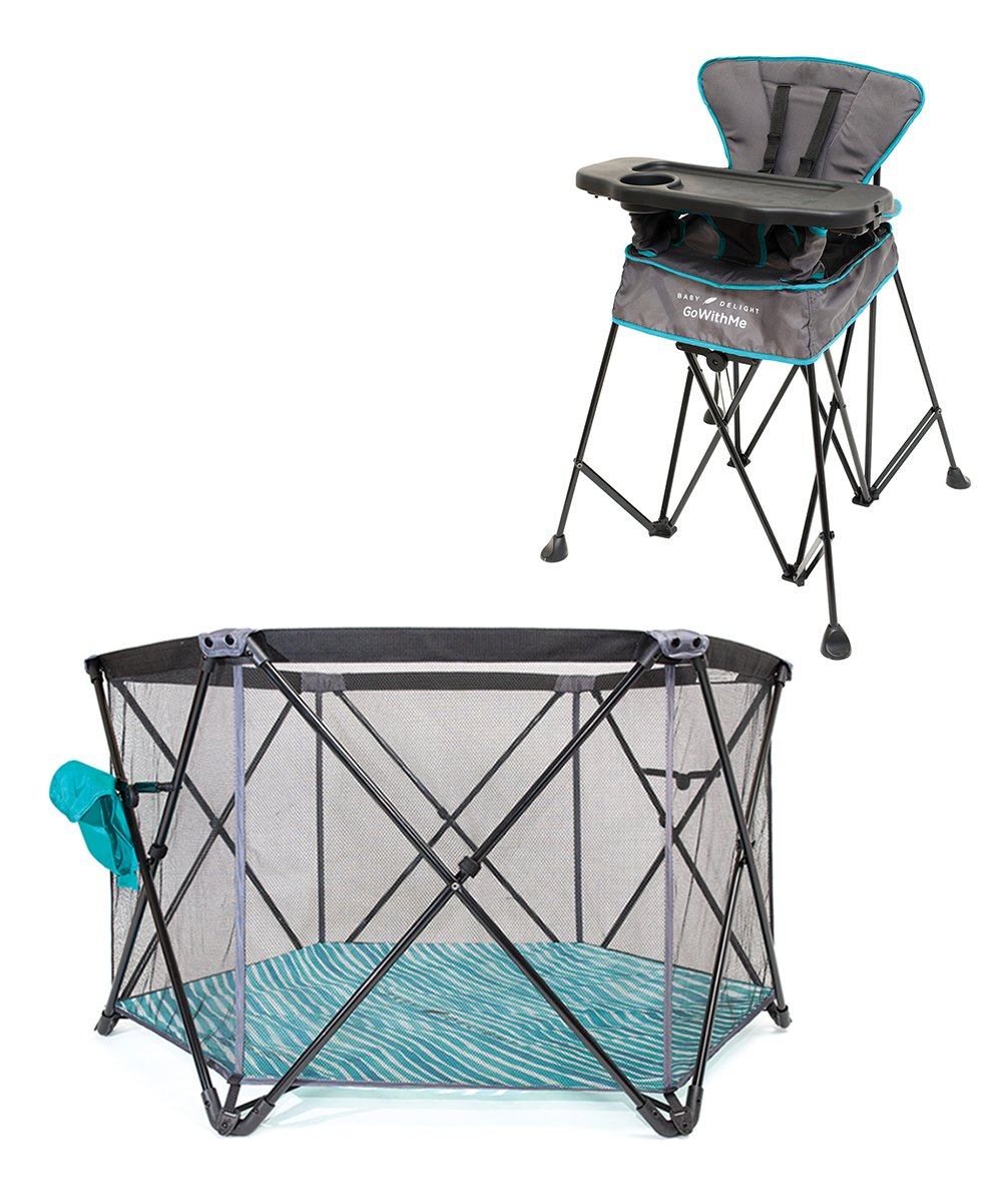 Go With Me Uplift Portable High Chair & Haven Portable Play Yard! .99 at Zulily!
