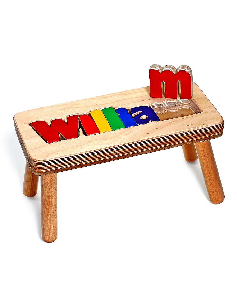 Primary Puzzle First Name Personalized Stool! .99 (REG .00) at Zulily!