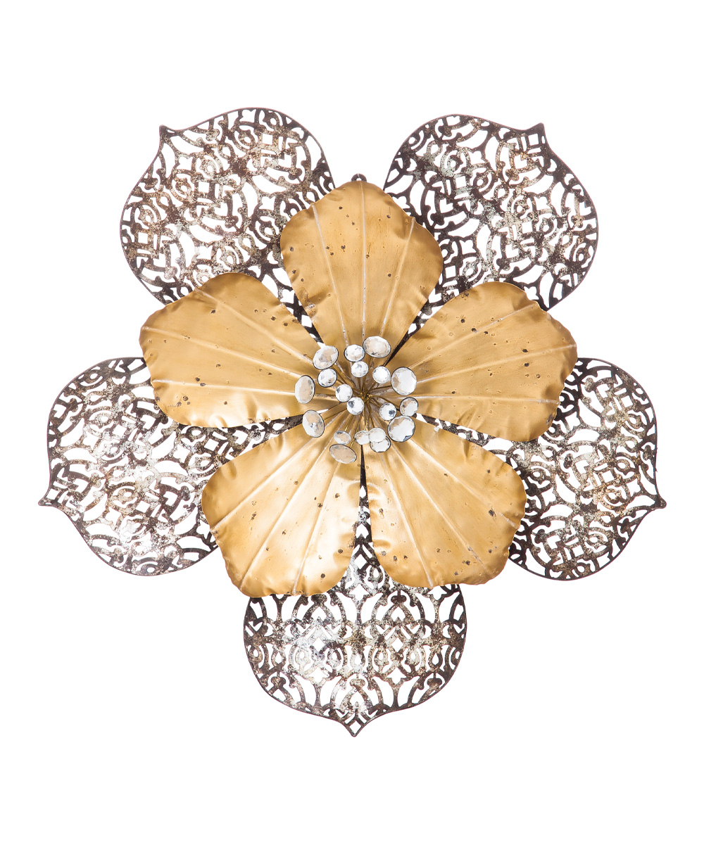 Gold Cutout Layered Metal Flower Wall Décor - Set of Two | zulily