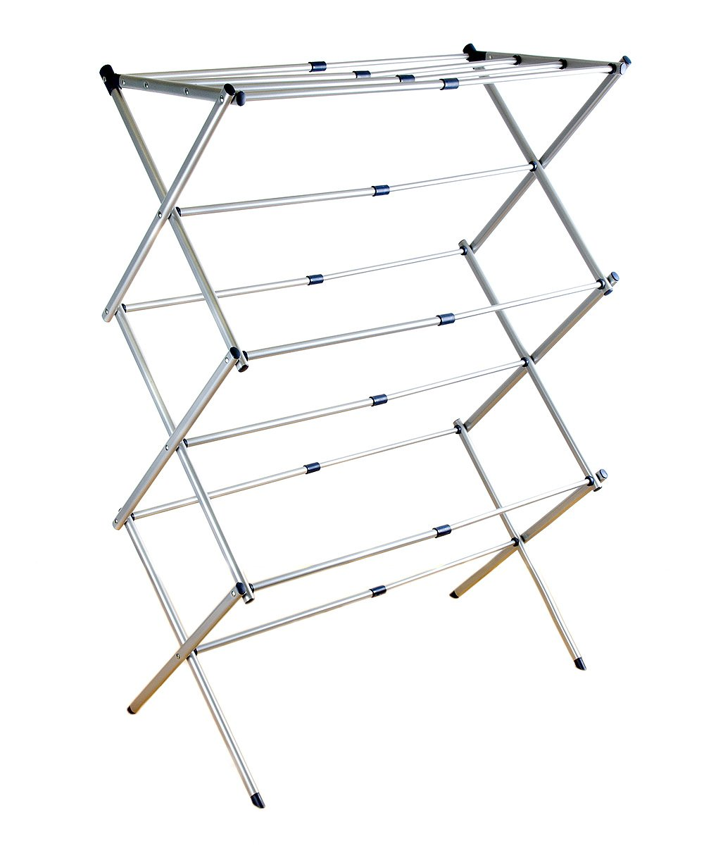 Extendable Drying Rack Extendable Drying Rack. Cleverly designed and compact, this drying rack folds down for easy storage and expands with enough area to hang every delicate item. 24.2'' HMetalImported