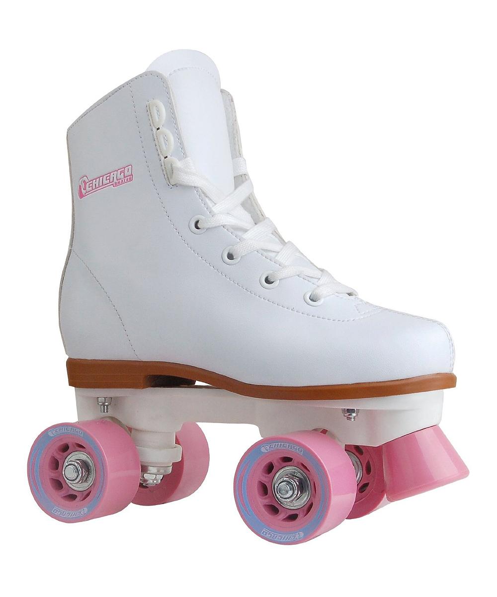 Chicago Skates Girls' Roller Skates & Blades White - White & Pink Rink Skate - Kids
