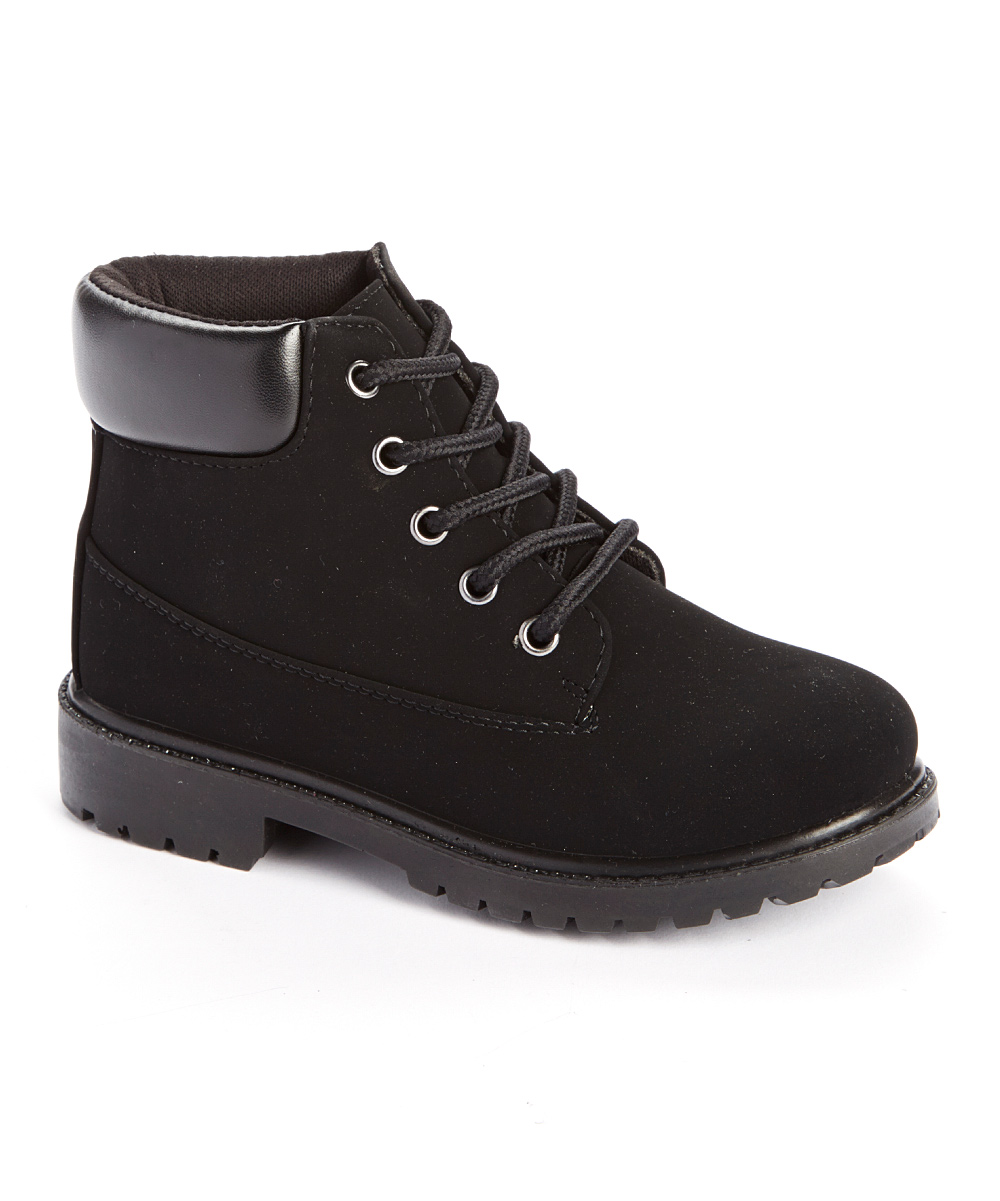 Ositos Shoes  Casual boots Black - Black Lace-Up Boot - Kids