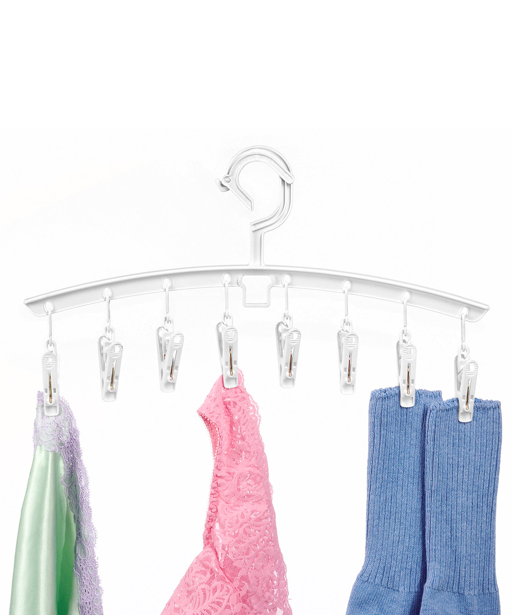 Clip & Drip Add-On Hanger - Set of Three Clip & Drip Add-On Hanger - Set of Three. This unique set of hangers can attach to each other, saving closet space while still storing plenty of clothing. Includes three hangers15.94'' W x 8.13'' HPolypropylene / metalSpot cleanImported