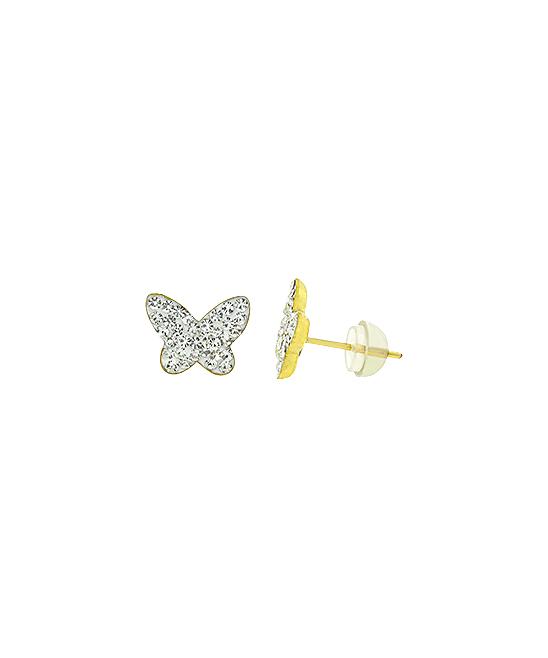 or White Gold Butterfly Earring Backs Small or Regular Ritastephens 14K Yellow Rose Pink