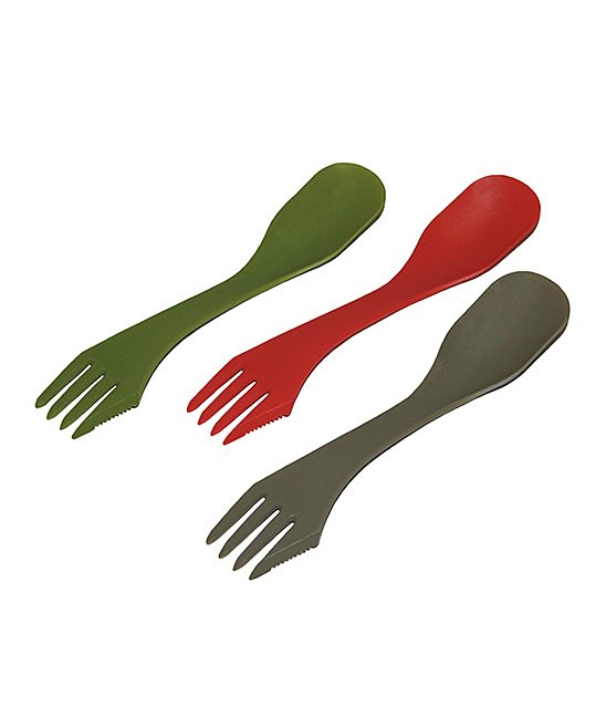 3-in-1 Camping Spoon - Set of Six