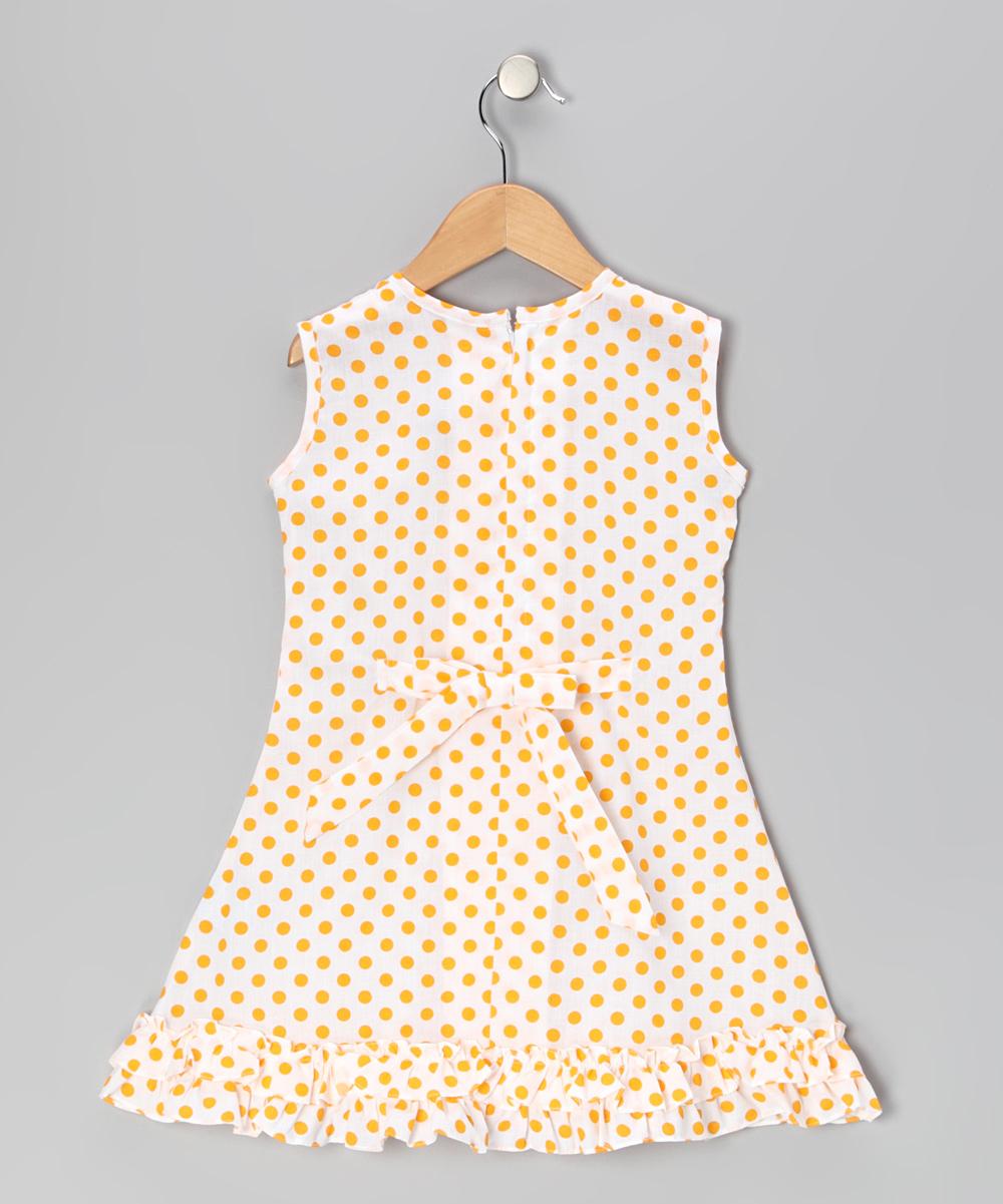 27b1923de3 Vintage Circus Yellow Polka Dot Bow   Ruffle Sundress - Infant ...