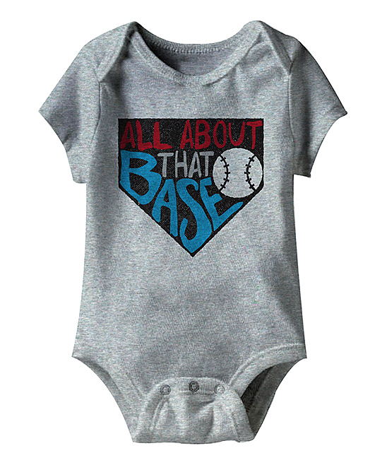 American Classics  Infant Bodysuits GRAY - Heather Gray 'All About That Base' Bodysuit - Newborn & Infant