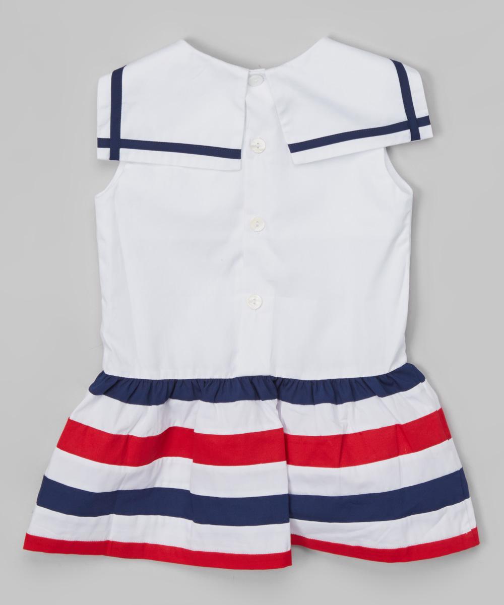 bb4238461d8b6 Les Petits Soleils by Fantaisie Kids Red & Navy Sailor Dress ...