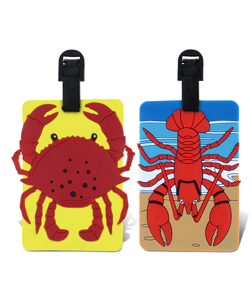 Red Lobster & Crab Luggage Tags Red Lobster & Crab Luggage Tags. Make it easy for little ones to spot their luggage at baggage claim with these fun tags. Includes two tags9'' W x 13'' HPVCImported