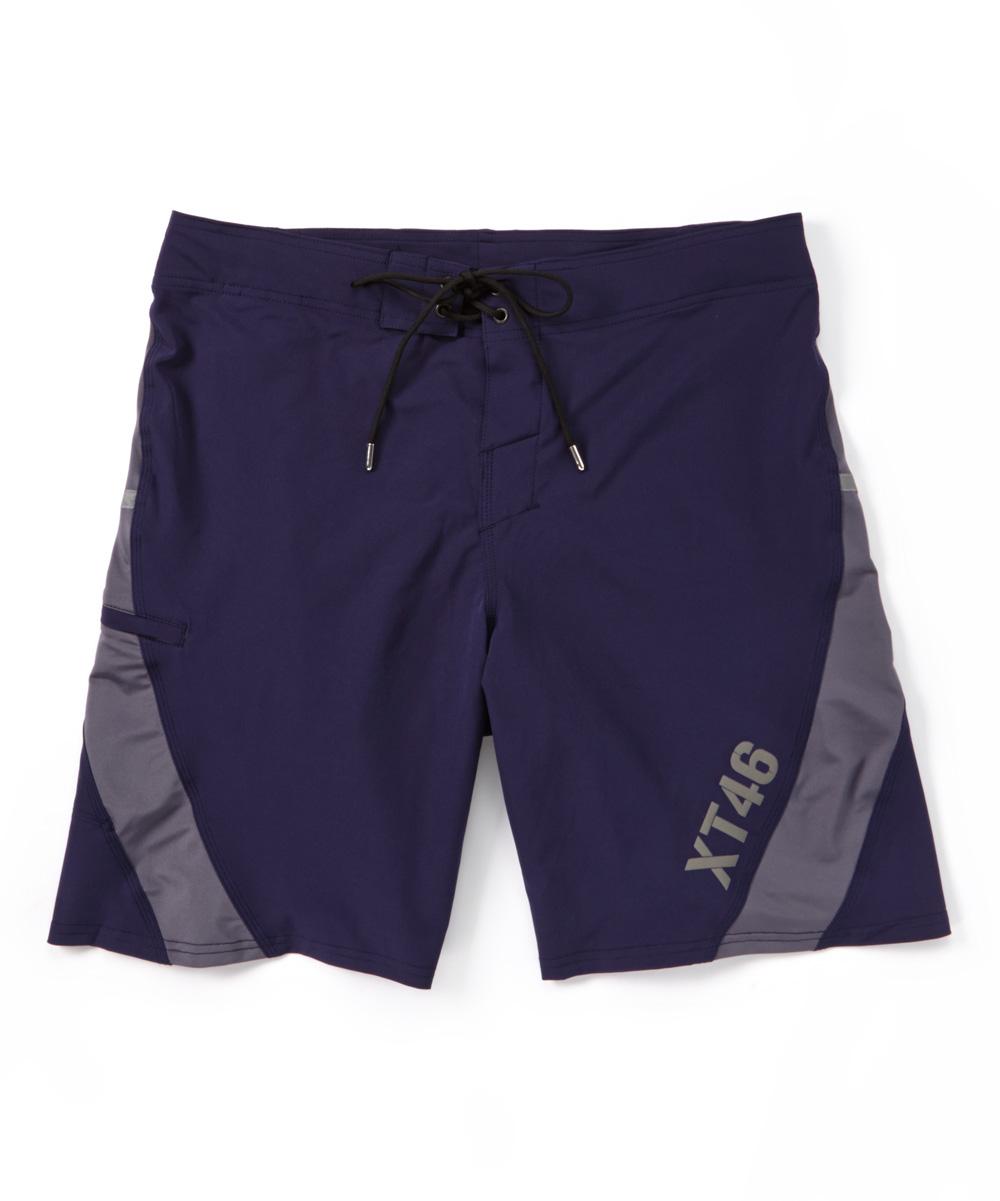 Navy Stripe Utility Shorts - Men Navy Stripe Utility Shorts - Men. Machine washable93/7 poly spandexImported