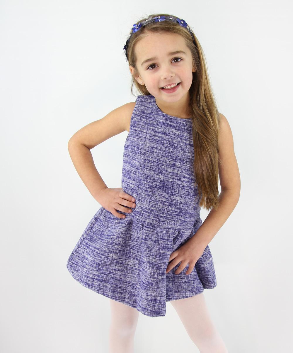 1748e1ad407a Blossom Couture Blue Jumper Dress - Toddler & Girls | Zulily
