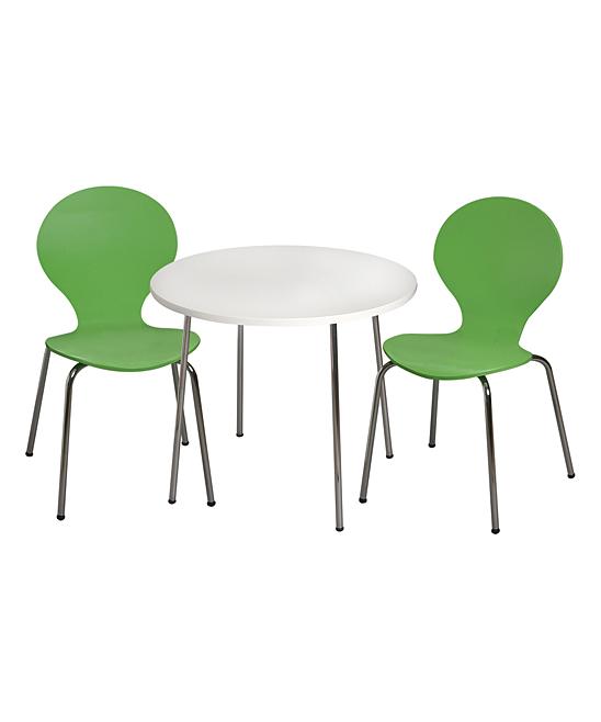 Green Modern Table & Chair Children's Set
