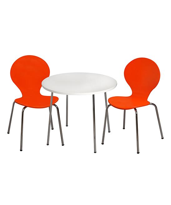 Orange Modern Table & Chair Children's Set