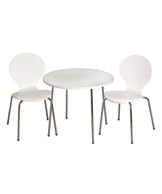 White Table & Chair Modern Children's Set