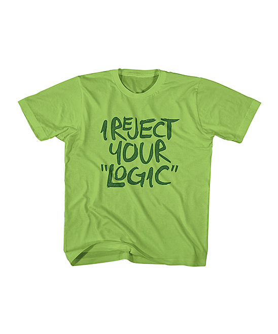 Key Lime 'I Reject Your Logic' Tee - Toddler & Kids