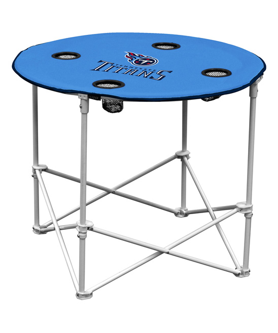 Logo Brands  Camp Furniture Titan - Tennessee Titans Round Folding Table