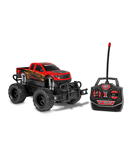 World Tech Toys  Remote Control Toys  - Red Remote Control Ford F-150 SVT Raptor RC Truck Toy