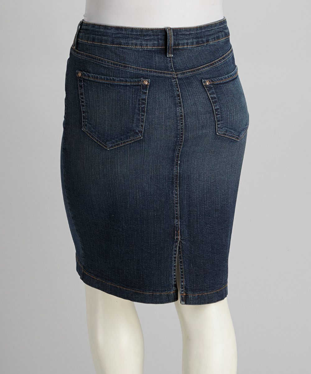 fbb0b2c8fc8 Not Your Daughters Jeans Koberg Wash Emma Plus-Size Denim Skirt