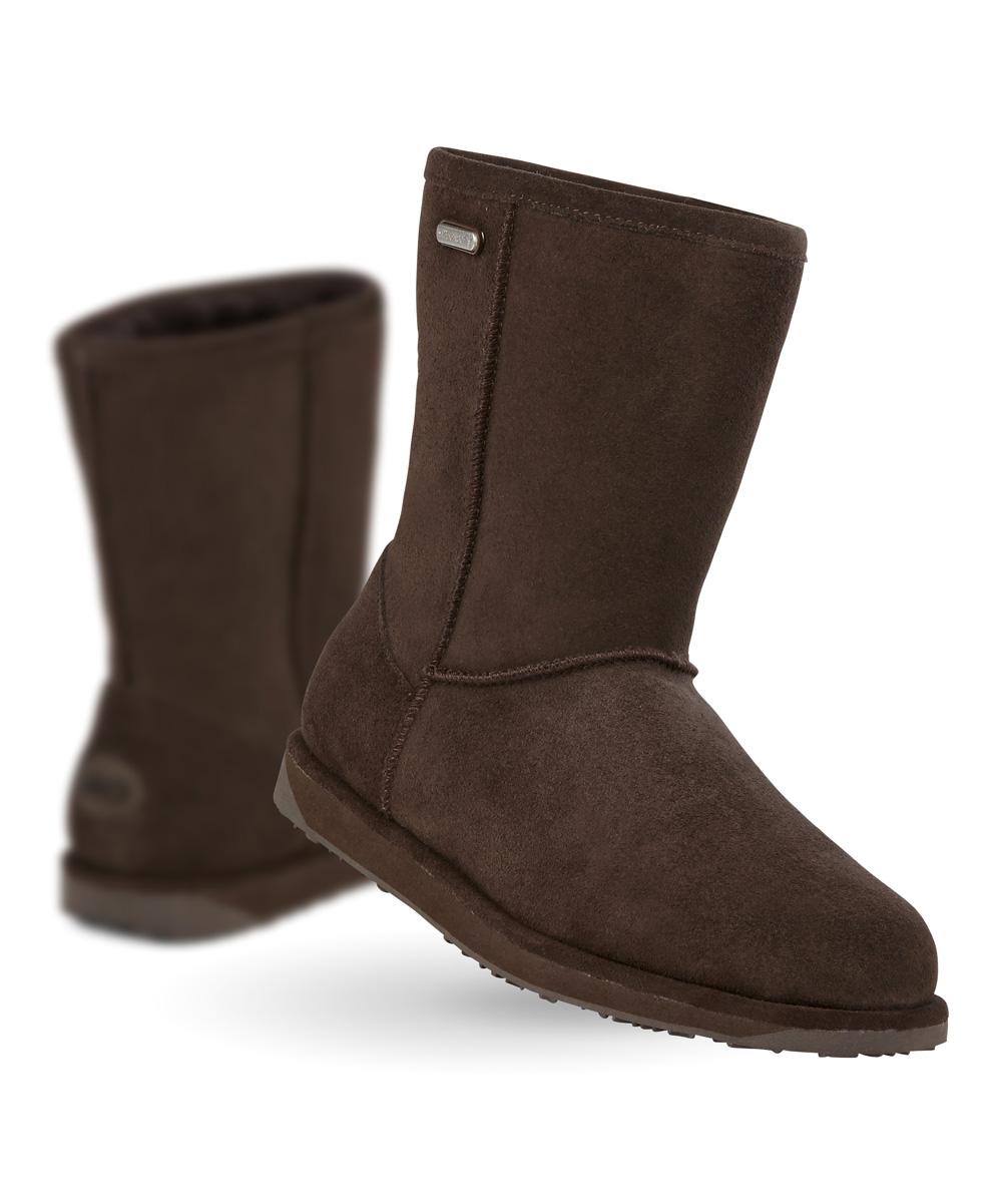 bad4d9df83b EMU Australia Chocolate Waterproof Paterson Lo Suede Boot - Women