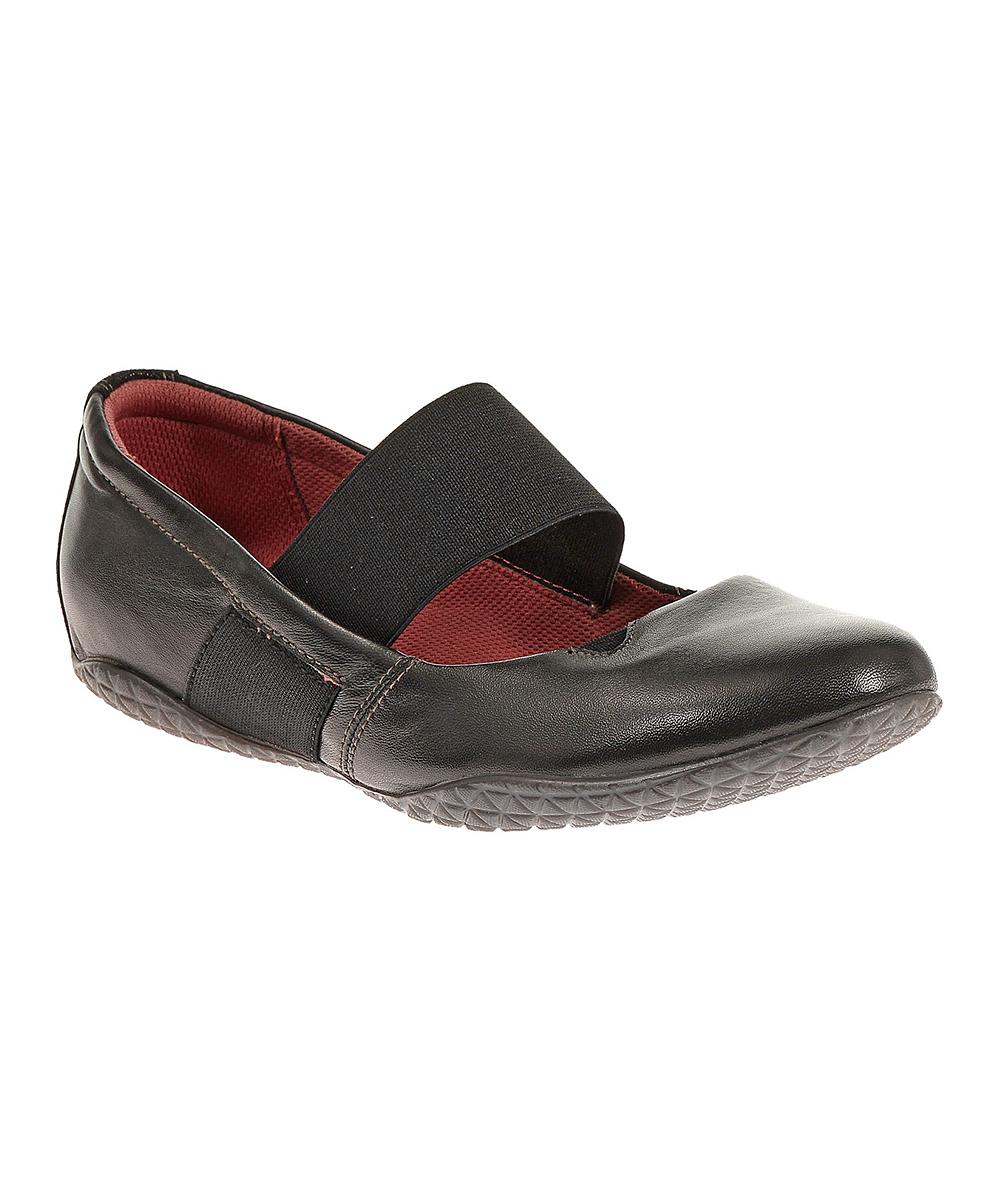 e64f343fb106c Hush Puppies Black   Red Zoe Toli Leather Flat