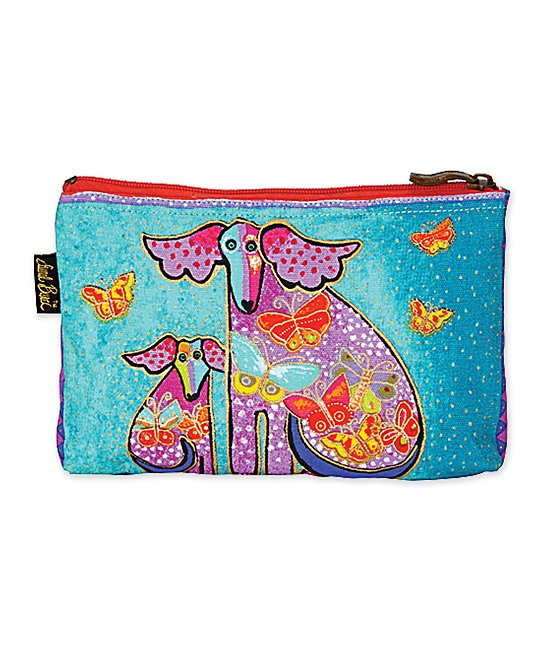Laurel Burch Women's Makeup Bags MULTI - Turquoise Dog Tales Mini Cosmetic Bag