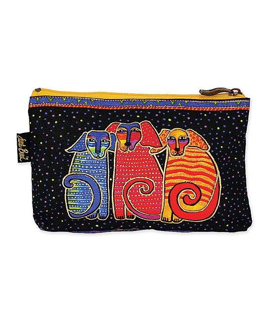 Laurel Burch Women's Makeup Bags MULTI - Red Dog Tales Mini Cosmetic Bag
