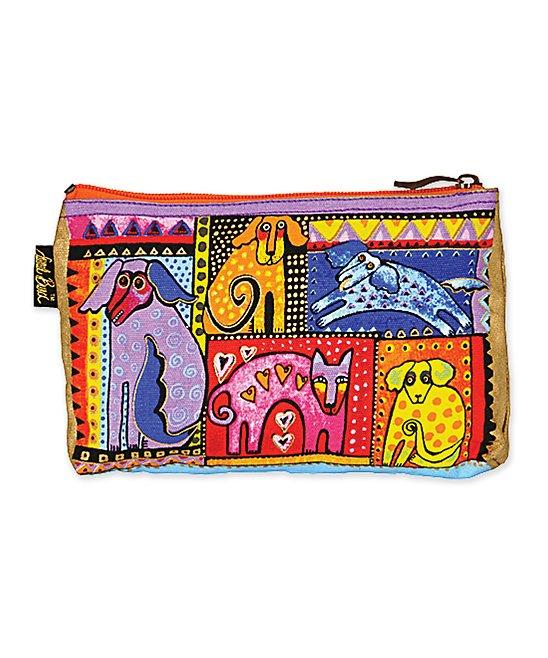 Laurel Burch Women's Makeup Bags MULTI - Yellow Dog Tales Mini Cosmetic Bag