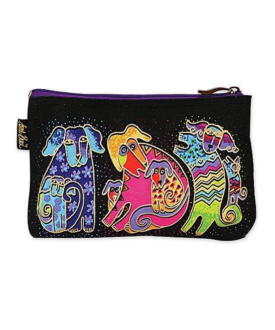 Laurel Burch Women's Makeup Bags MULTI - Pink Dog Tales Mini Cosmetic Bag