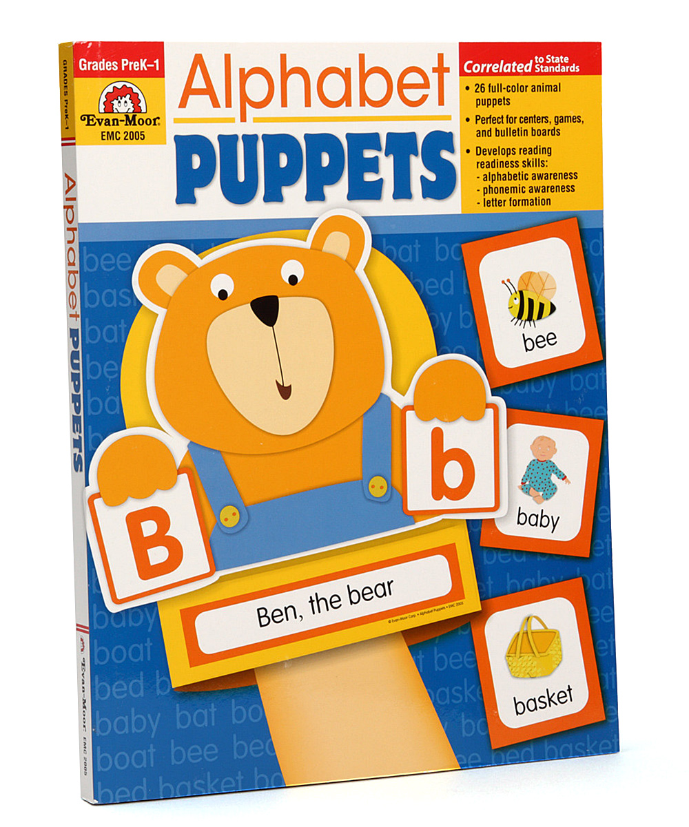 Workbooks prek workbooks : Evan-Moor Educational Publishers Alphabet Puppets PreK-1 Workbook ...
