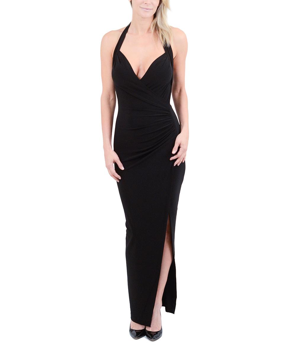0e0f5e2610 KamaliKulture Black Side-Ruched Halter Dress