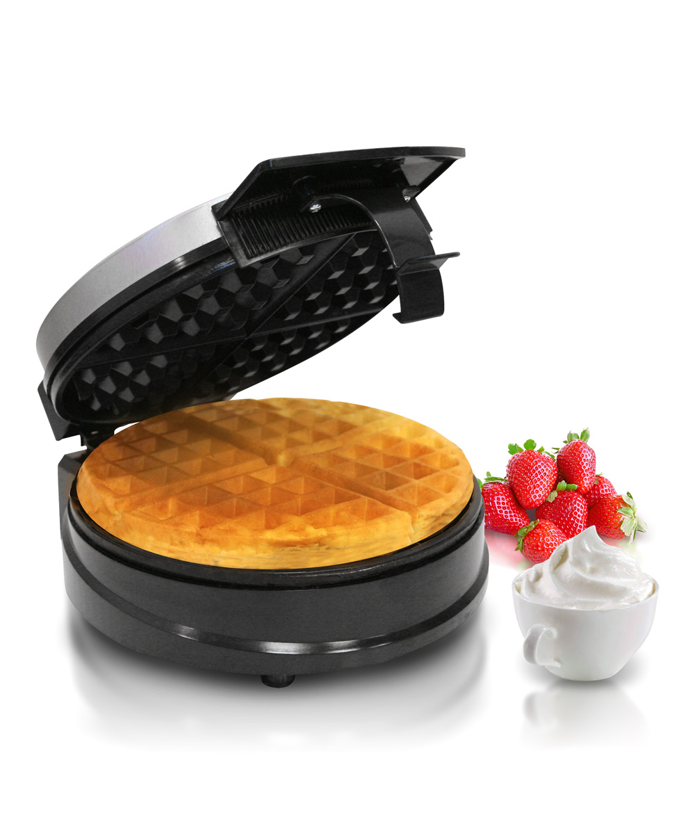 Chefman  Waffle Makers  - Black Belgian Waffle Maker Black Belgian Waffle Maker. Ready for a tasty breakfast, this electric waffle maker allows for a variety of cooking options while lending its modern design to your kitchen decor. 7.25'' W x 9.5'' H x 4.5'' DAluminumHand washImported
