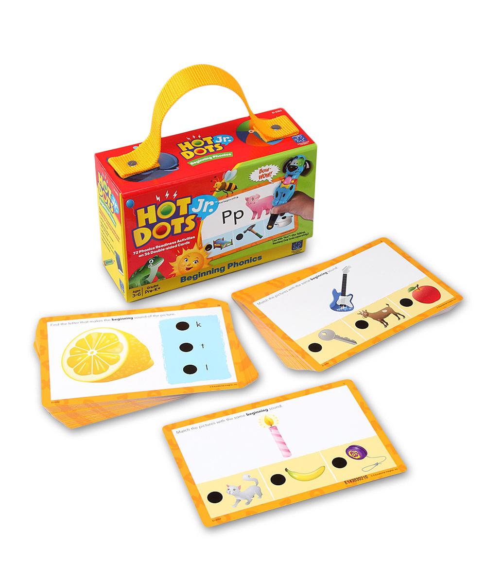 Beginning Phonics Hot Dots Jr. Card Set