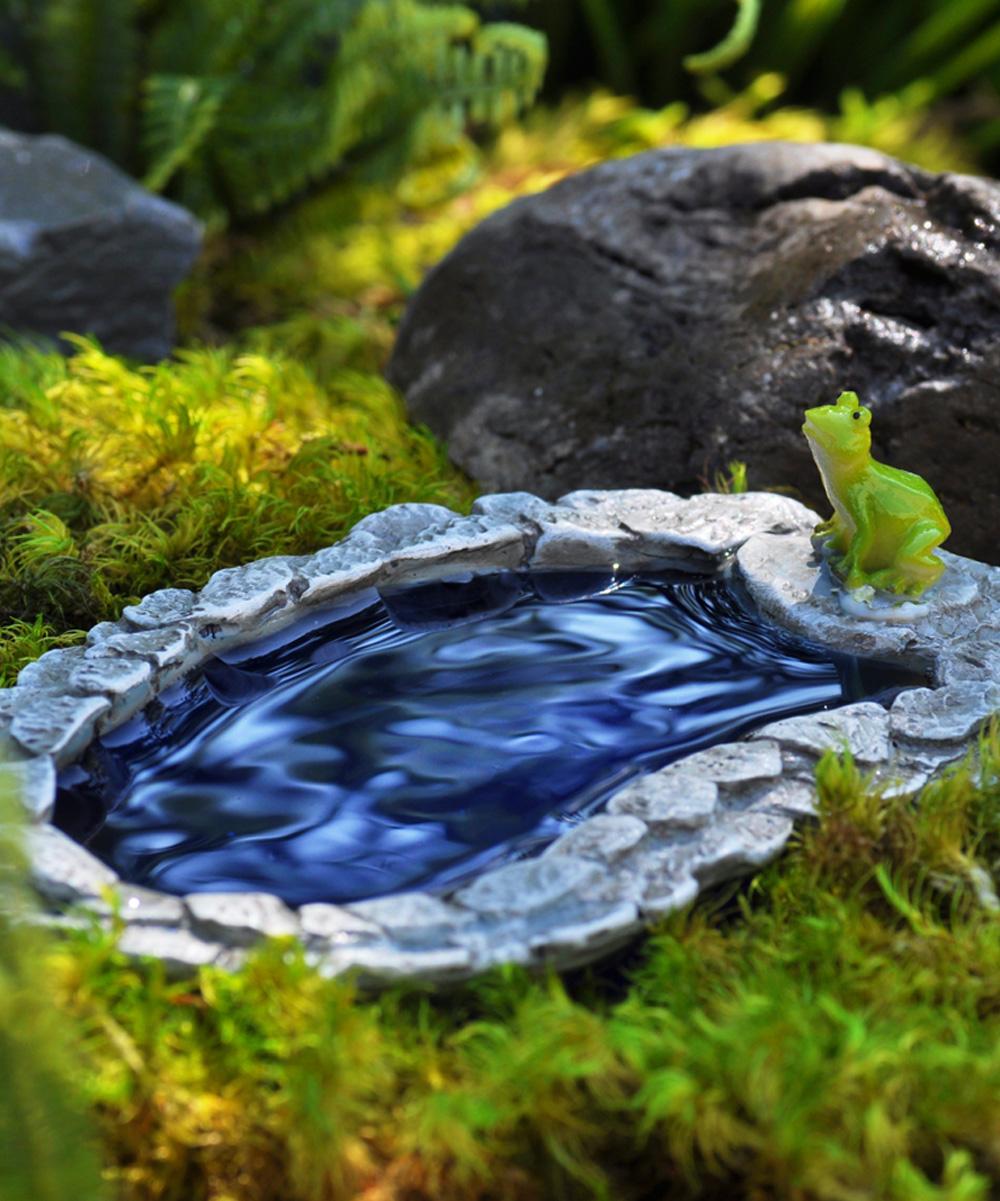 Georgetown Home and Garden  Fairy Garden Blue - Fairy Garden Pollywog Pond Figurine