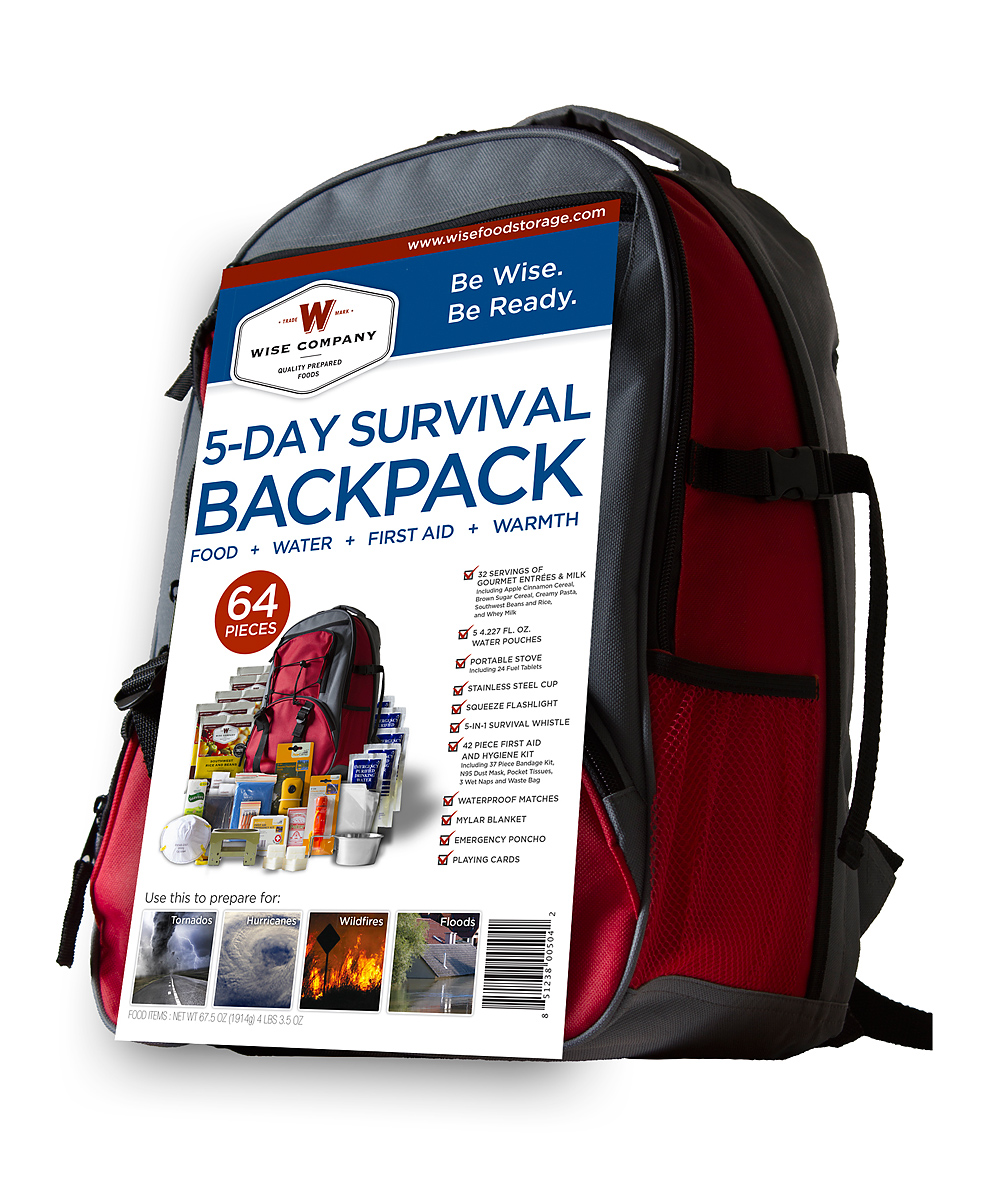 559432b340bd Wise Company Five-Day Survival Backpack Set
