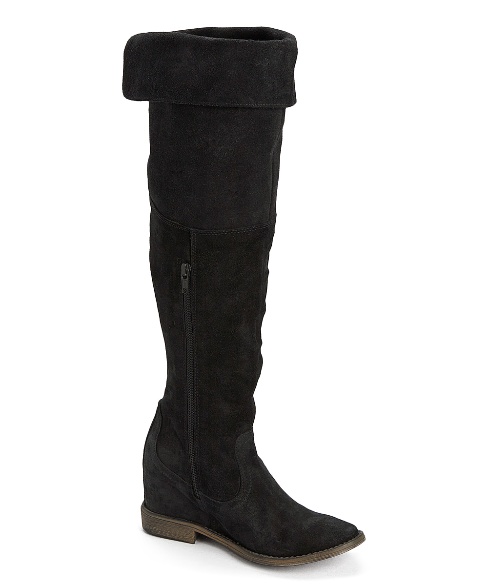 dceadbe9aef love this product Black Stephen Fold-Over Suede Boot