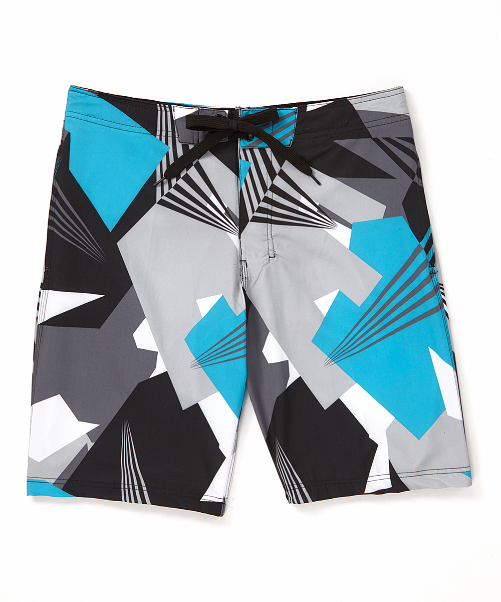 9564e460e1 Kanu Surf Black Vertigo Stretch Boardshorts - Men | Zulily