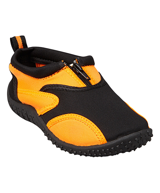 Rockin Footwear  Water shoes BLACK/ORANGE - Black & Orange Aqua Fire Water Shoe - Kids