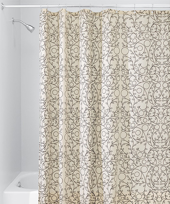 All Gone Vanilla Bronze Twigs Shower Curtain