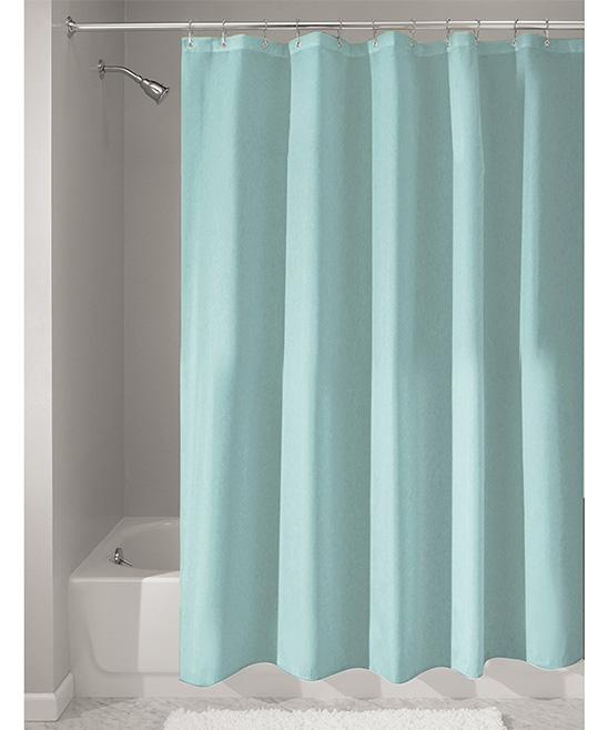 IDesign Mint Shower Curtain Liner