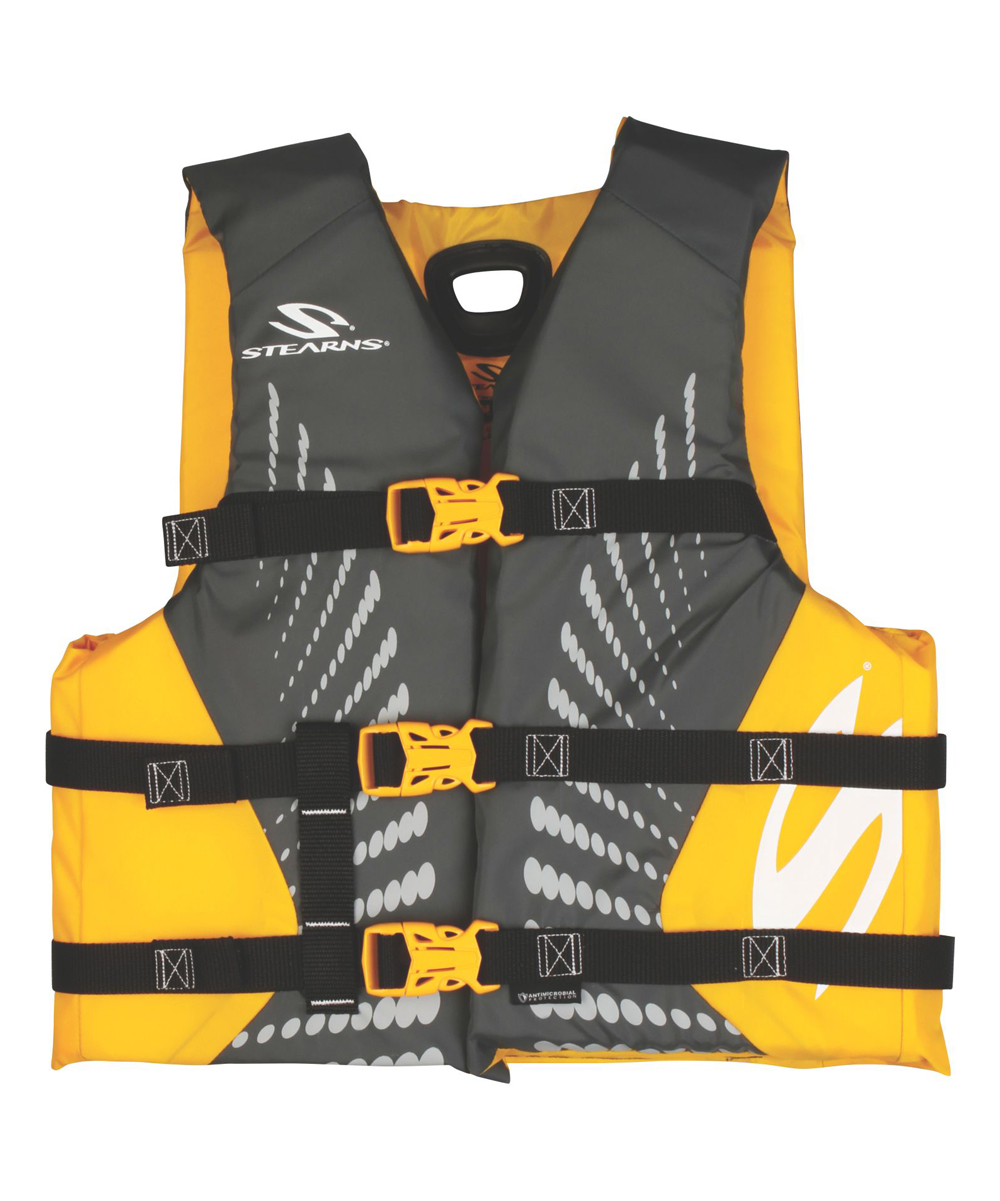 Yellow Antimicrobial Boating Flotation Vest - Kids