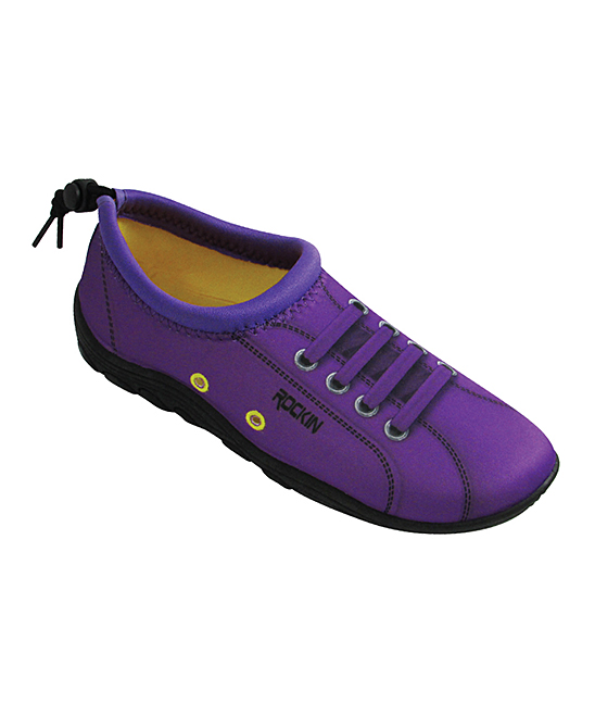 Rockin Footwear Girls' Water shoes neon - Neon Purple Aqua Sneaker - Girls