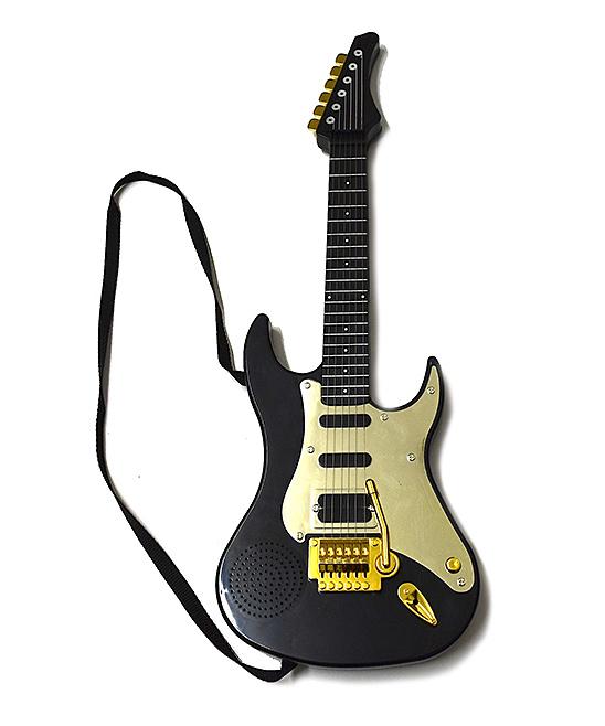 ENV Toys  Toy Guitar Black - Black Kids Electric Guitar