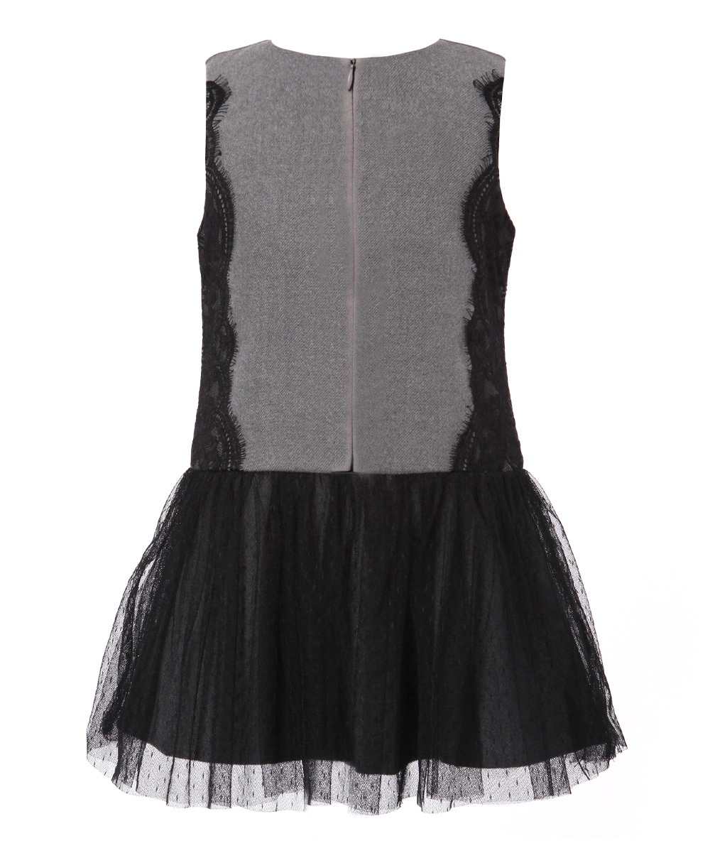 Richie House Gray Spring Lace Sundress Toddler Girls Zulily